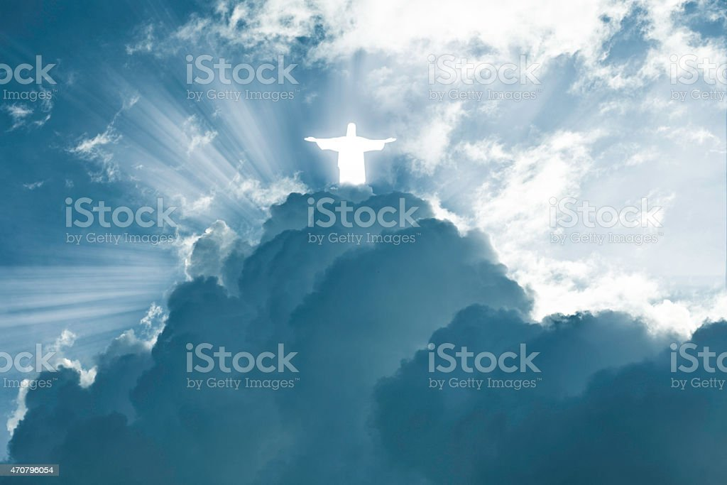 Jesus is coming stock photo