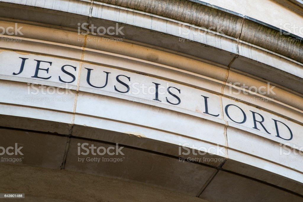 Jesus is Lord stock photo