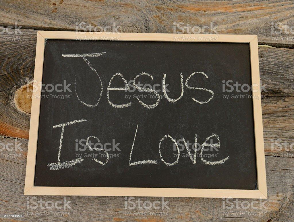 Jesus is love stock photo