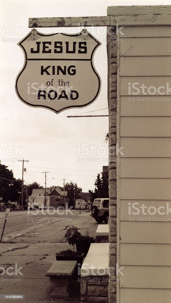 Jesus - King of the Road royalty-free stock photo