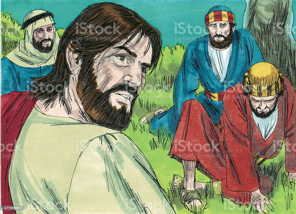 Jesus Knows Arrest is Coming stock photo