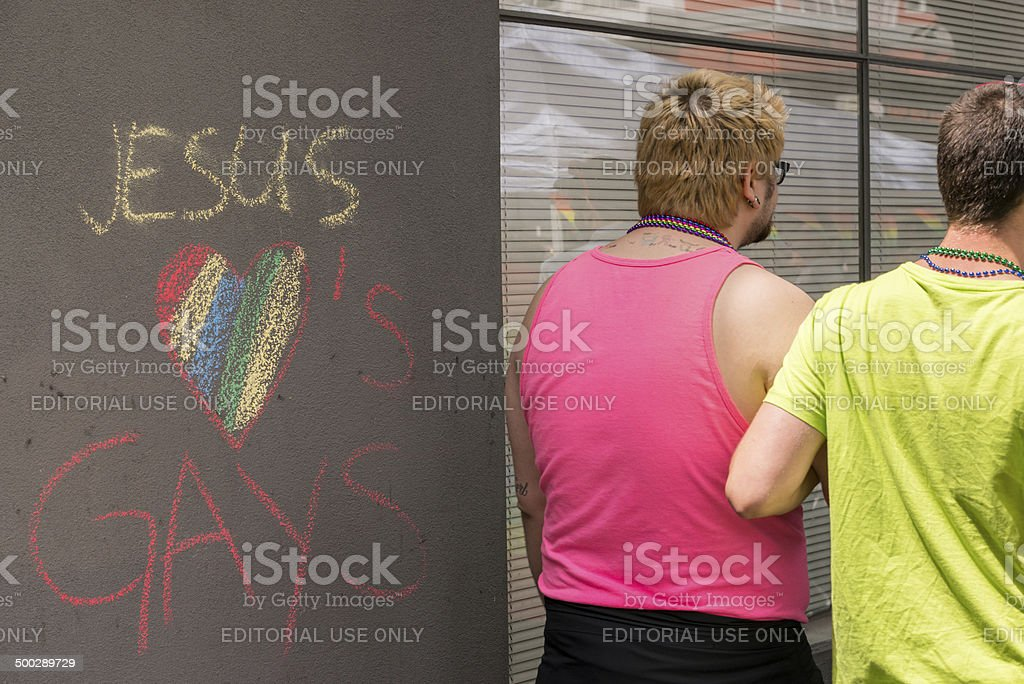 Jesus Loves Gays stock photo