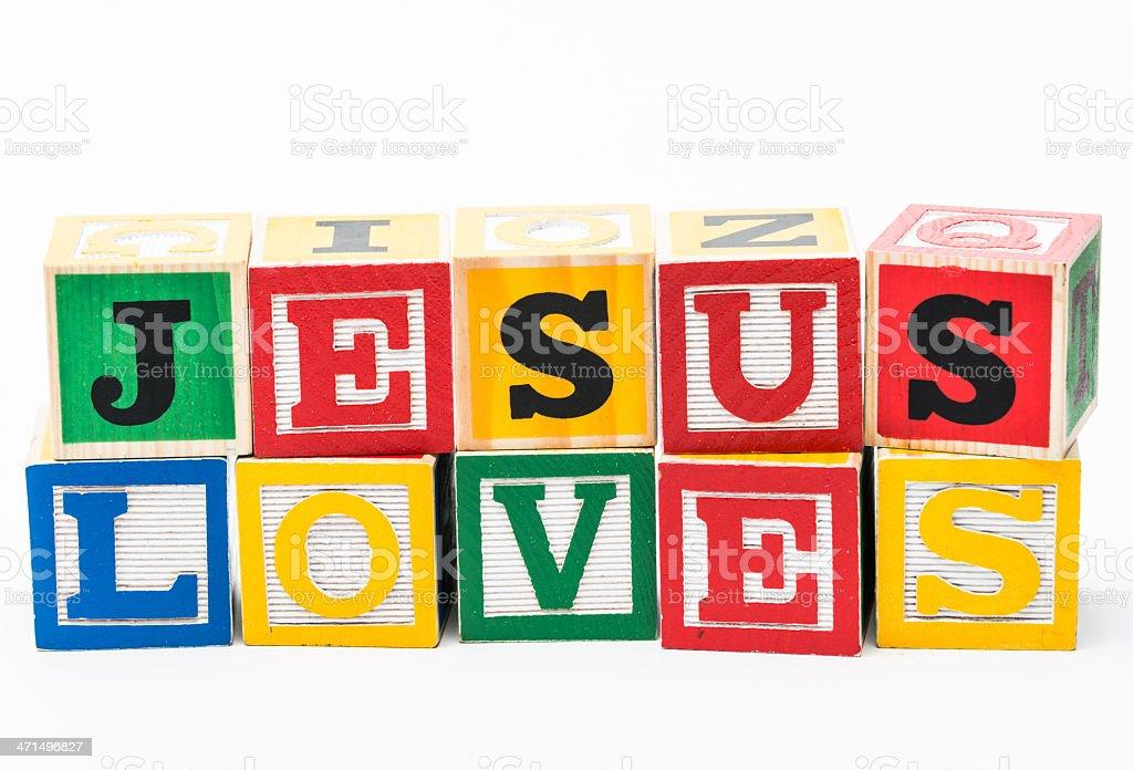 Jesus Loves royalty-free stock photo
