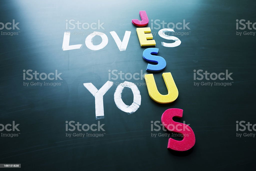 Jesus loves you royalty-free stock photo