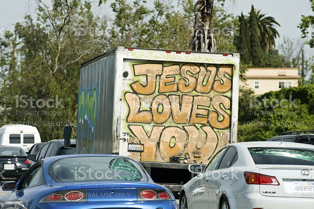 Jesus loves you royalty-free stock photo