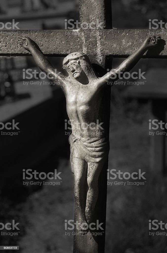Jesus on a cross royalty-free stock photo