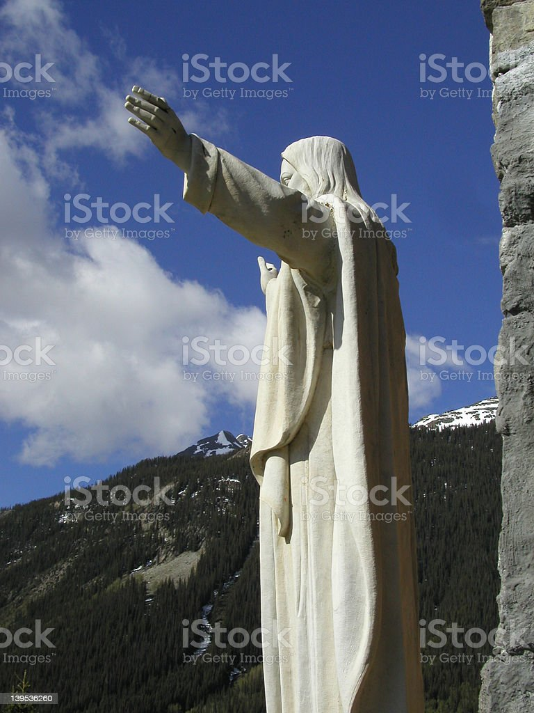 Jesus on Mountain royalty-free stock photo