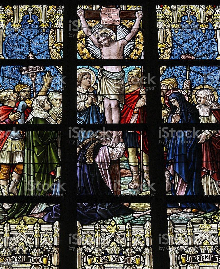 Jesus on the cross royalty-free stock photo