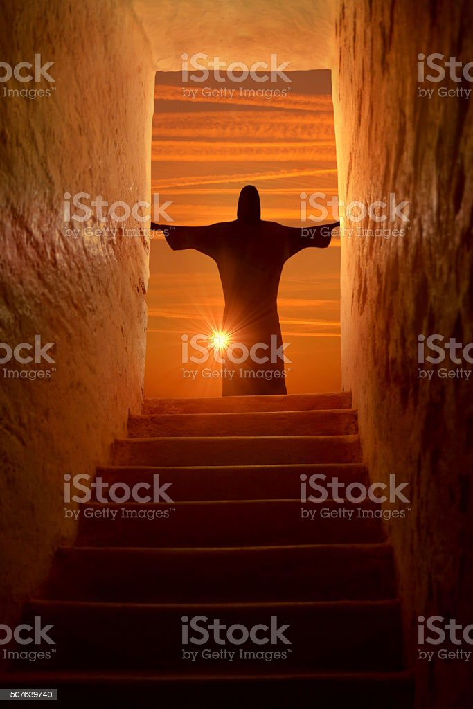 Jesus resurrection stock photo