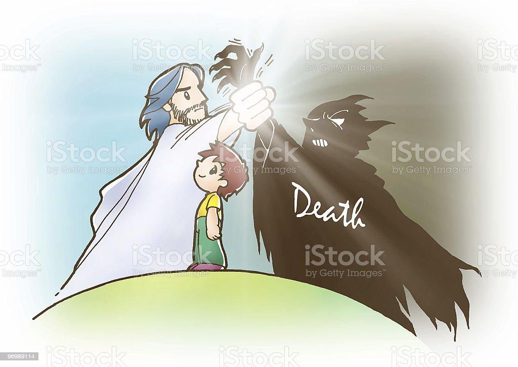 Jesus & Satan stock photo