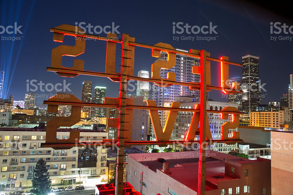 Jesus Saves neon sign stock photo