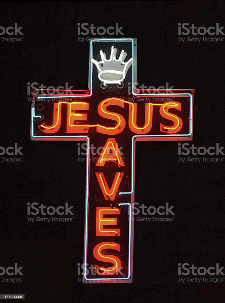 Jesus Saves stock photo