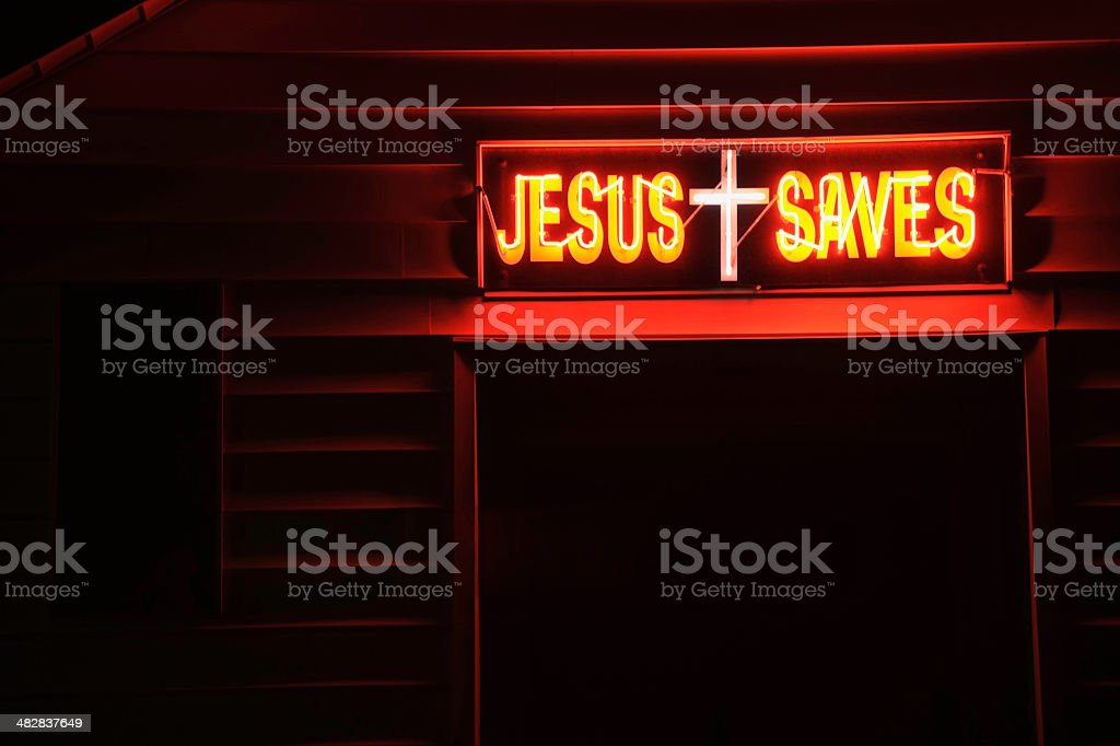 Jesus Saves Sign Red Neon Above a Night Church Door stock photo & Neon Church Pictures Images and Stock Photos - iStock Pezcame.Com