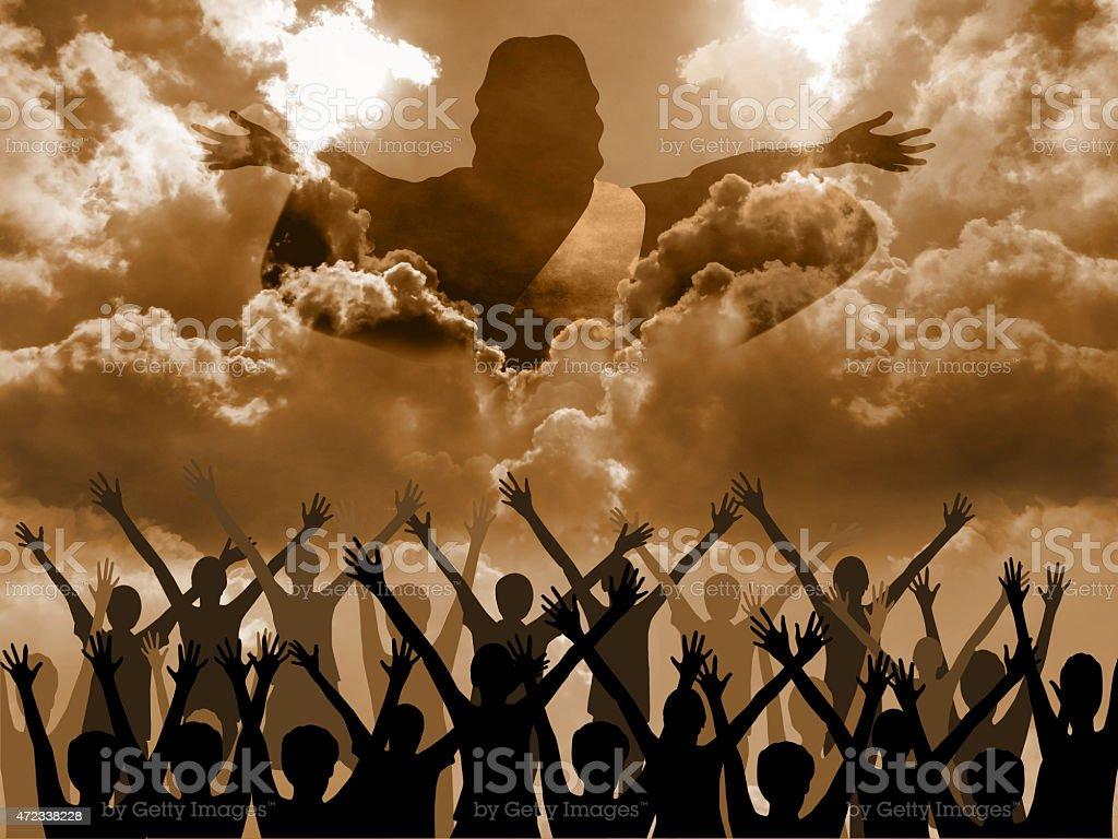 Jesus Second Coming stock photo