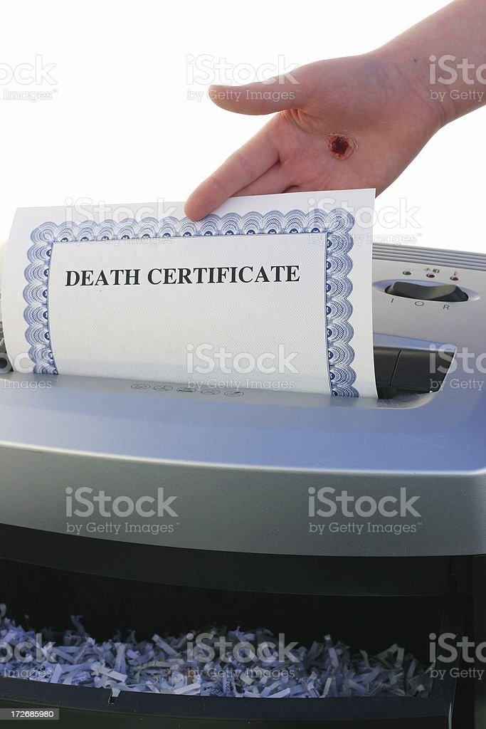 Jesus Shreds - Death Certificate stock photo