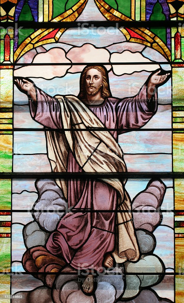 Jesus Stained Glass Window royalty-free stock photo