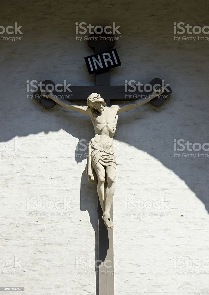 Jesus statue in Bruges stock photo