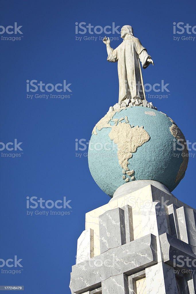 Jesus statue stock photo