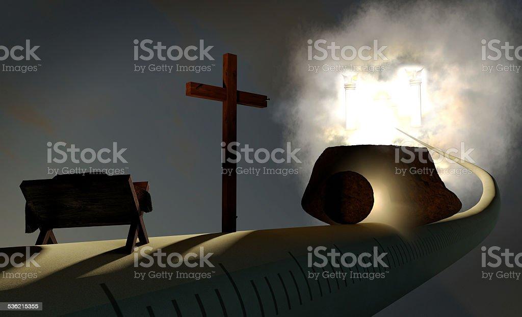 Jesus' Time Path stock photo