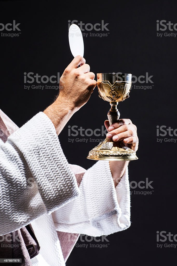 Jesuschrist praying stock photo