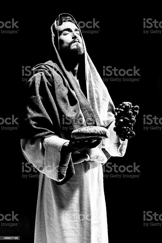Jesuschrist praying stock photo