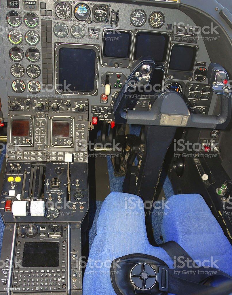 jet airplane cockpit royalty-free stock photo