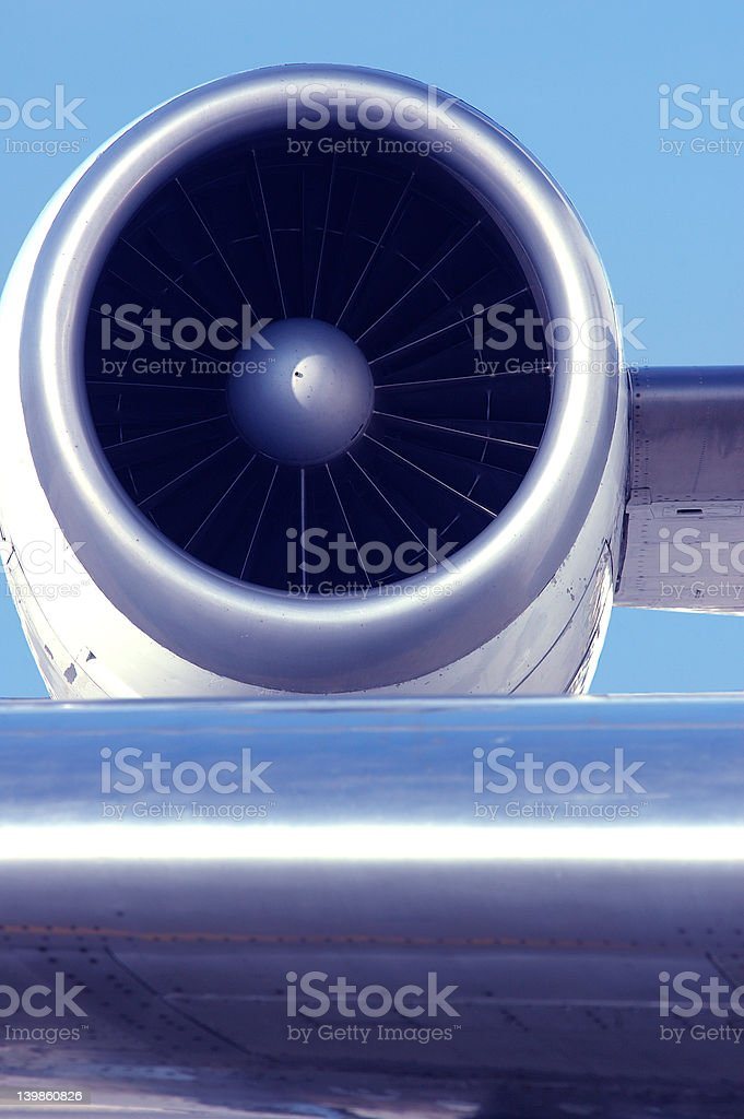 Jet airplane engine royalty-free stock photo