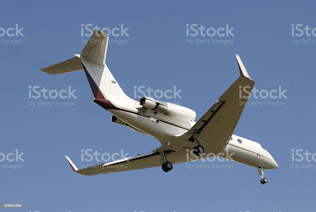 Jet airplane stock photo