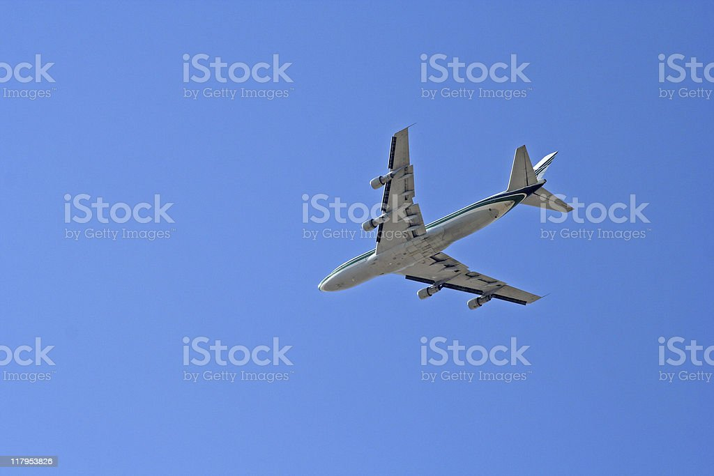 jet airplane Takeing off stock photo
