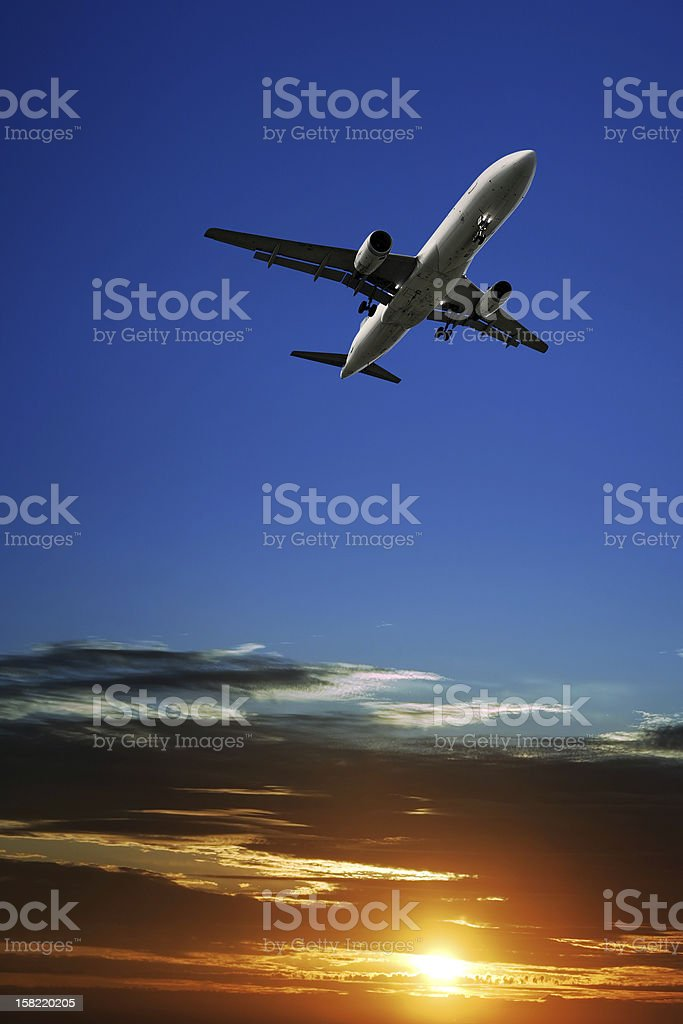 jet airplane taking off royalty-free stock photo