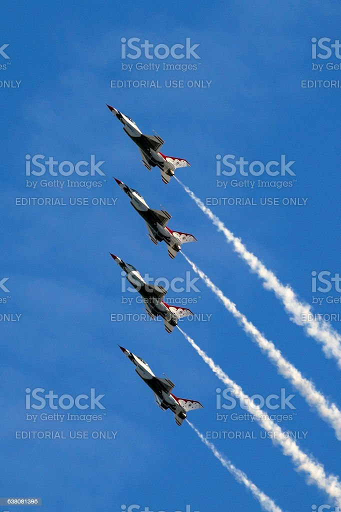 Jet airplanes US Air Force Thunderbirds stock photo