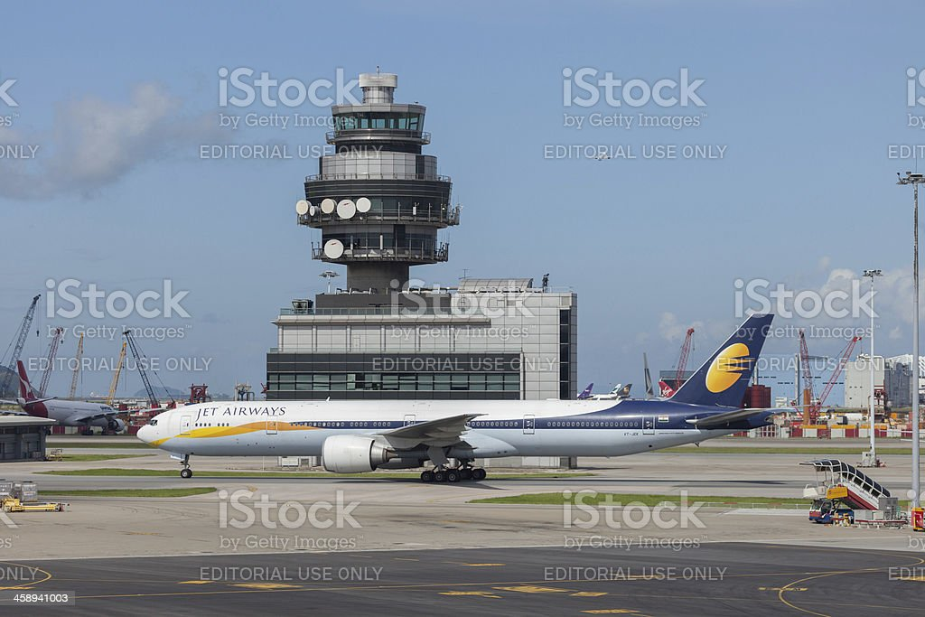 Jet Airways Boeing 777-300ER stock photo