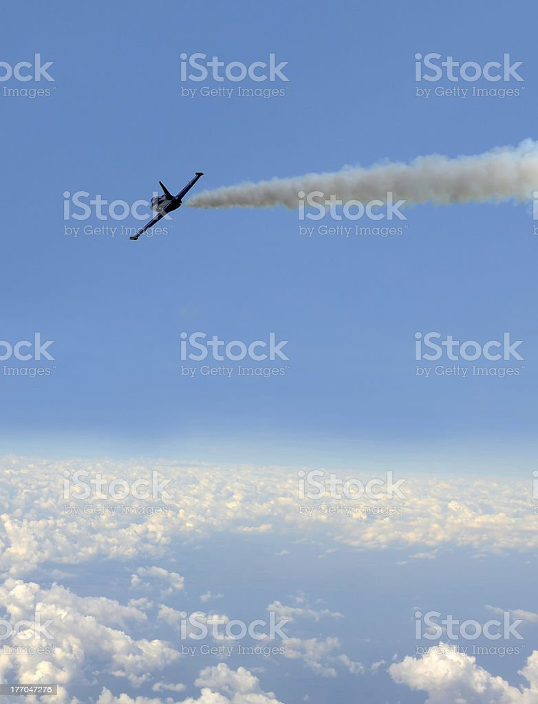Jet at high altitude stock photo