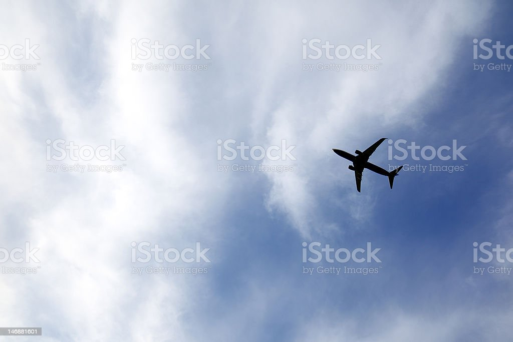 jet at low altitude royalty-free stock photo