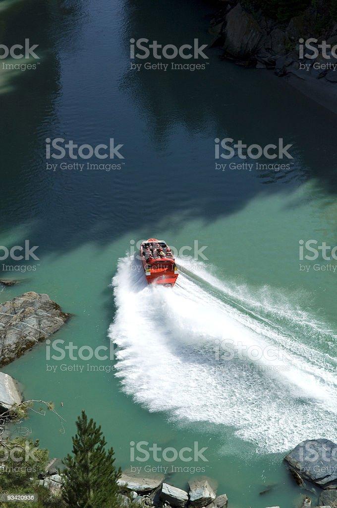 jet boat at shotover river stock photo