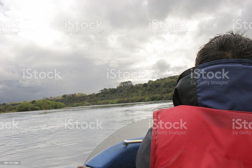 Jet Boat Driver stock photo