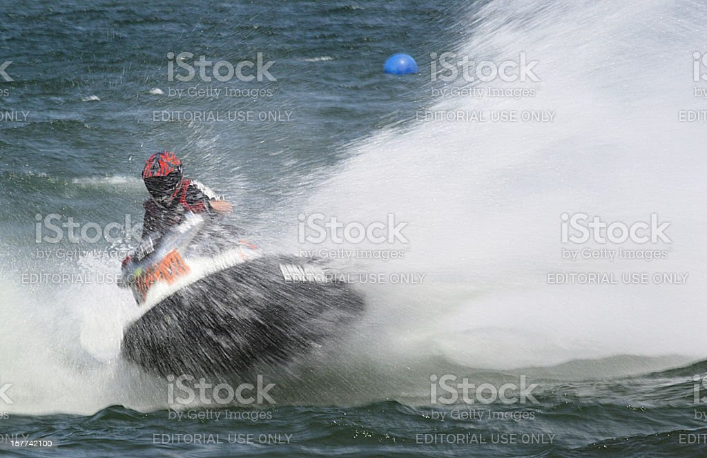 Jet Boat Waverunner Competition Speed royalty-free stock photo