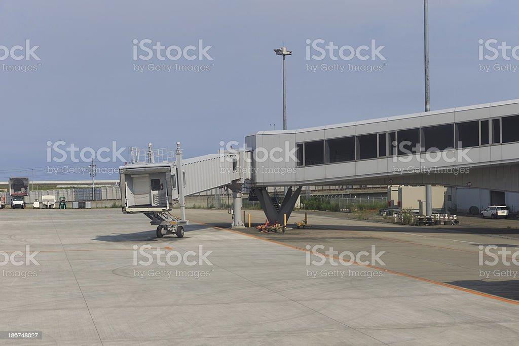 Jet bridge royalty-free stock photo