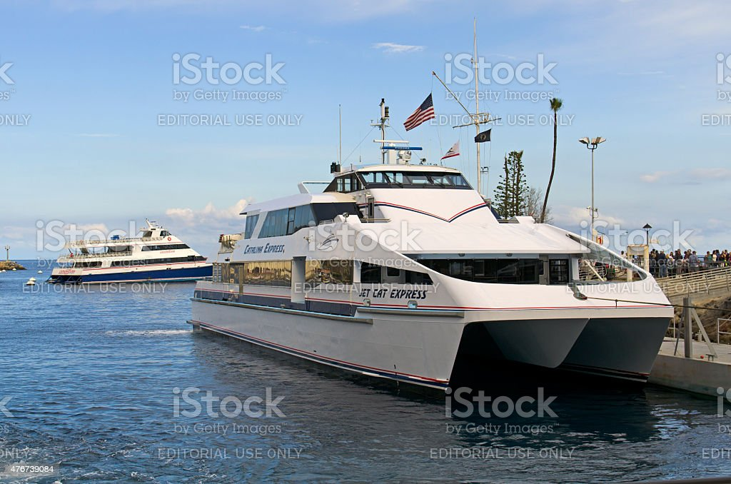 Jet Cat Express from Long Beach stock photo
