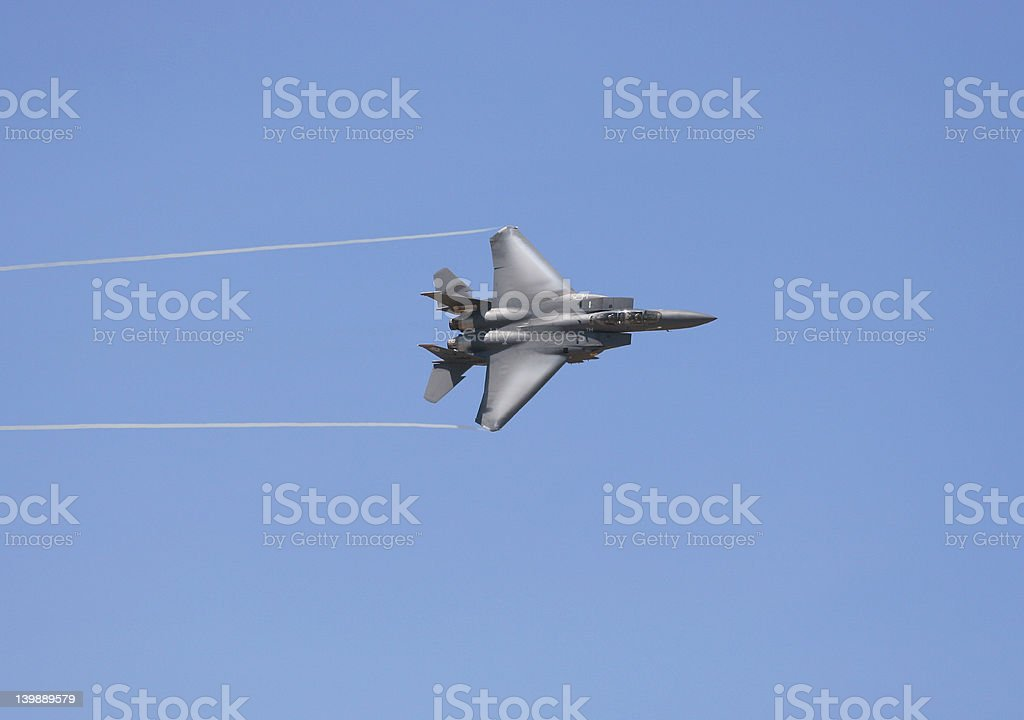 Jet Contrails royalty-free stock photo