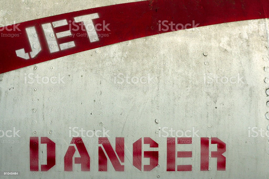 jet danger military aircraft stencil stock photo