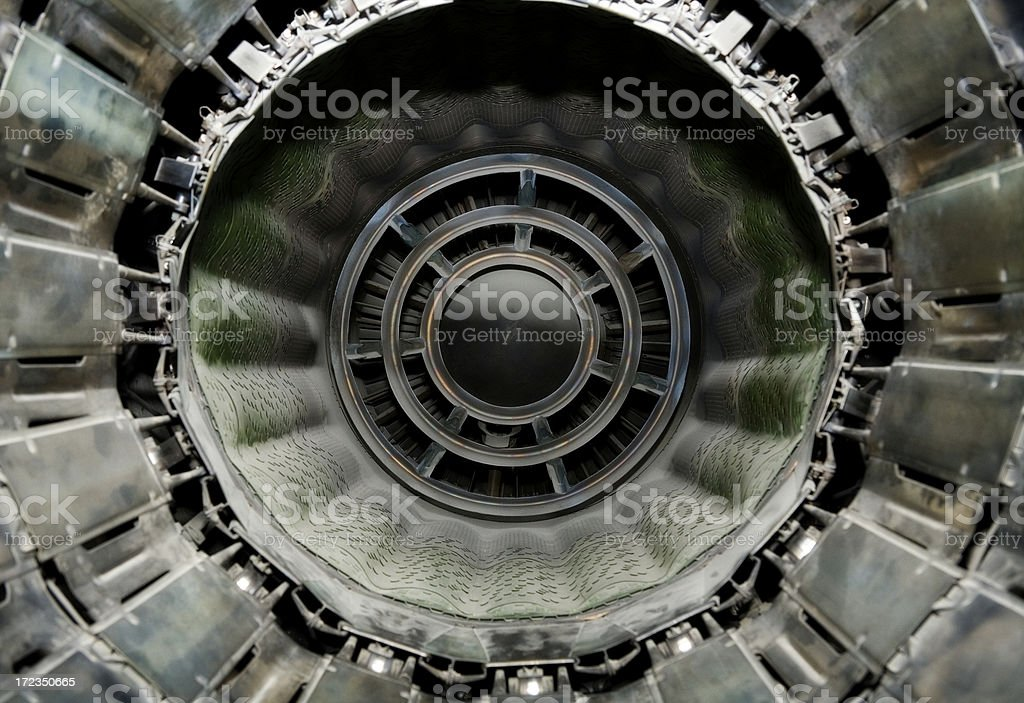 Jet engine abstract stock photo