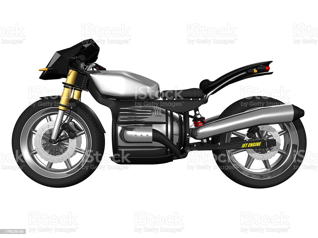 jet engine bike side view royalty-free stock photo