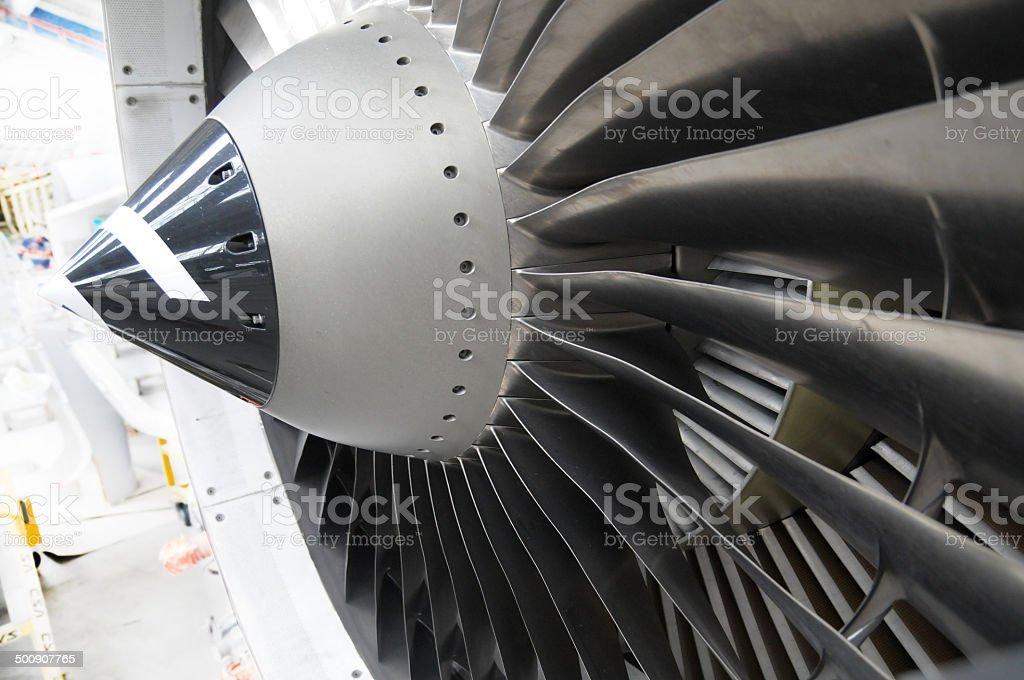 jet engine blades stock photo