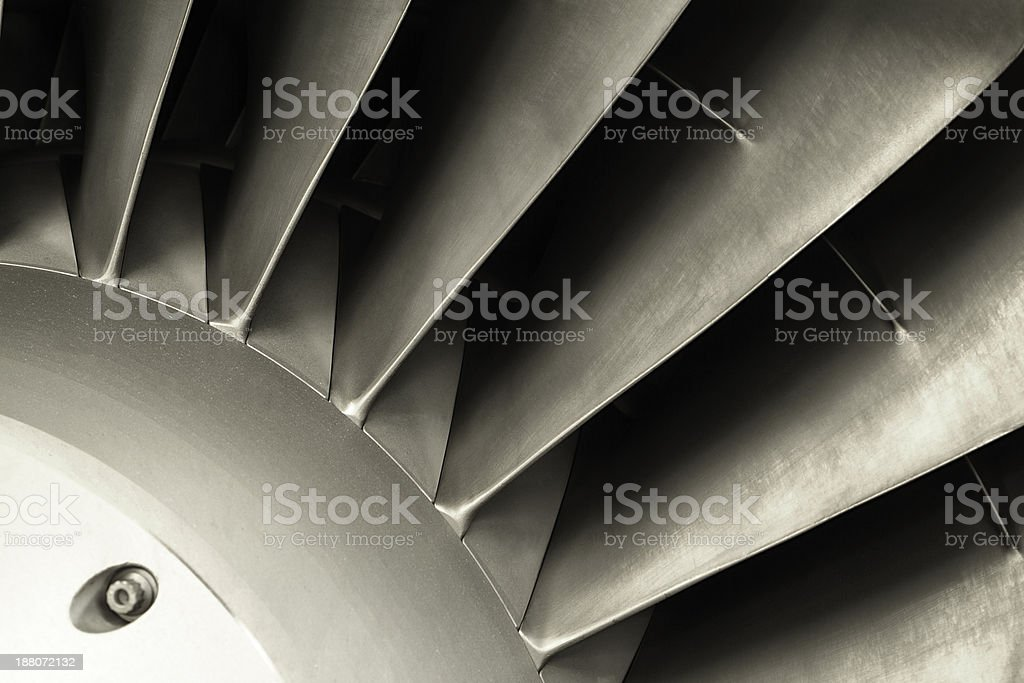 Jet engine - close up stock photo