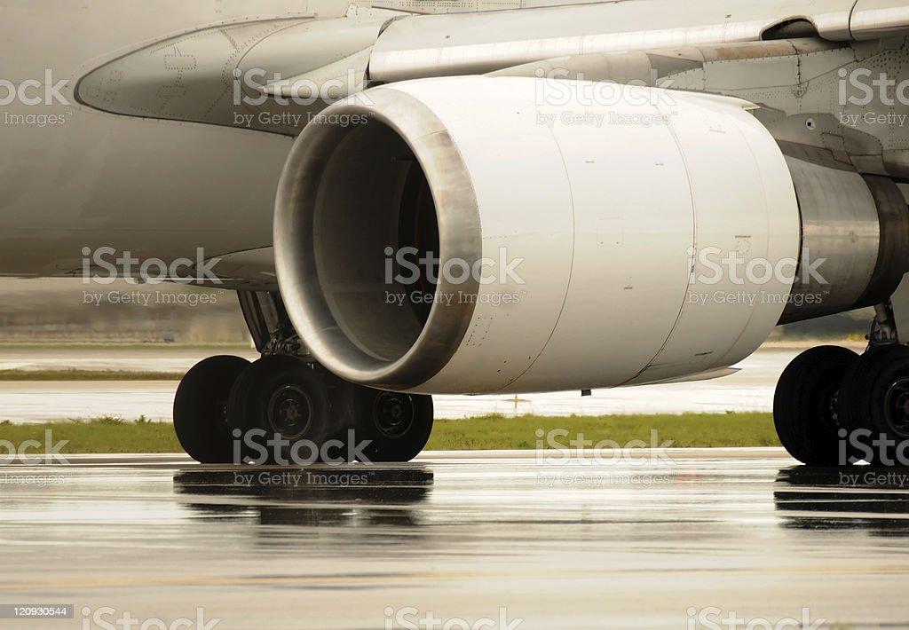 Jet engine closeup stock photo