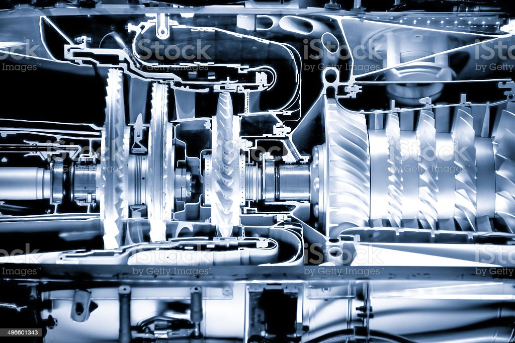 jet engine cutaway stock photo
