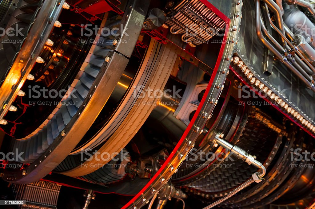 Jet engine detai stock photo