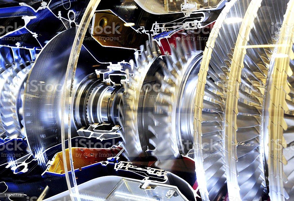 jet engine in close eye stock photo