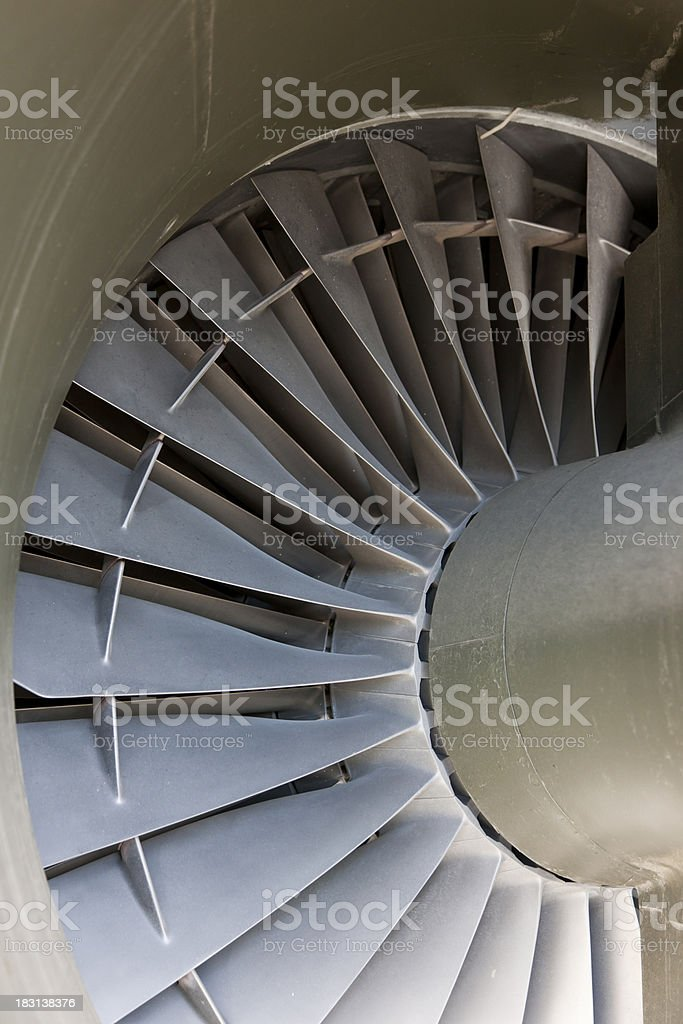 Jet Engine Intake Fan, Transportation, Close Up stock photo